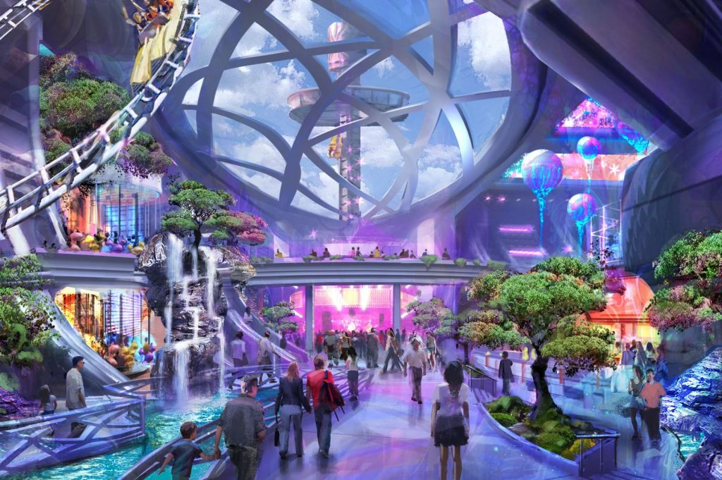 rendering of a new attraction